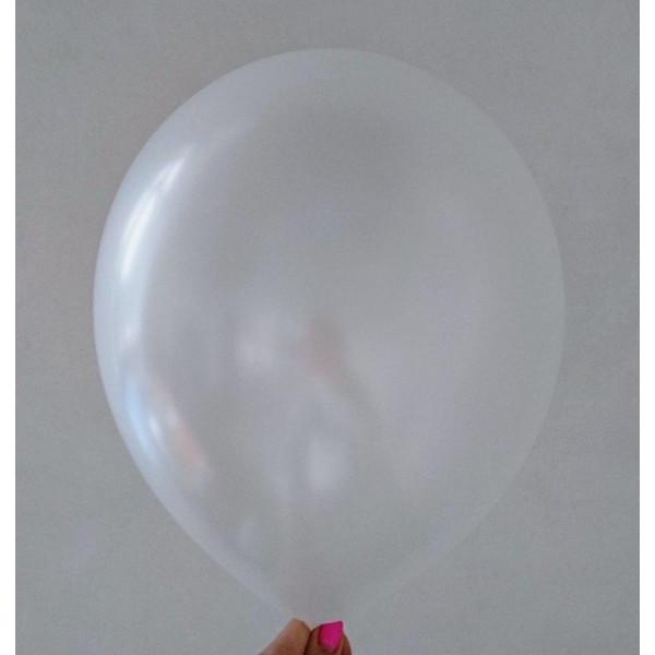 Белый латексный шар, перламутровый