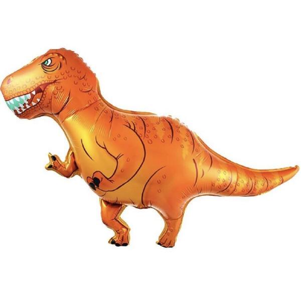 """Большая фольгированная фигура """"Оранжевый Динозавр"""""""