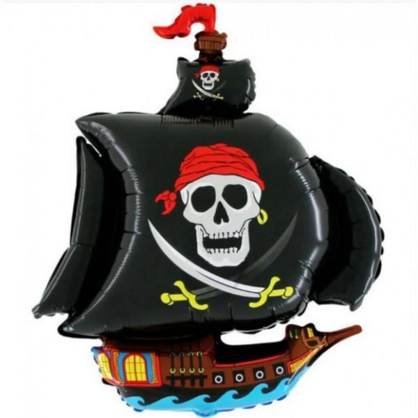 """Большая фольгированная фигура """"Пиратский корабль"""""""