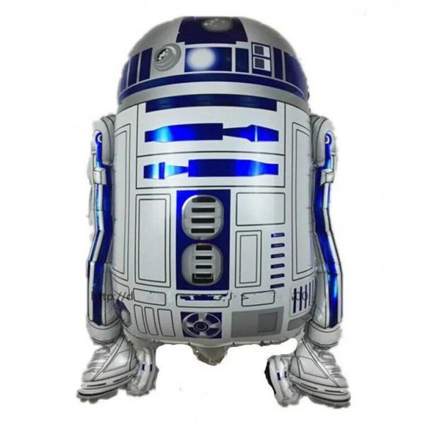"""Большая фольгированная фигура """"Робот R2D2"""""""