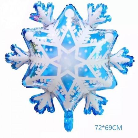 Большая фольгированная снежинка