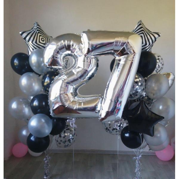 Большой мужской набор шаров на День Рождения