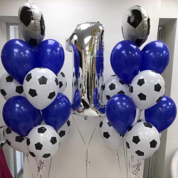 Большой набор шаров на годовасие будущего футболиста