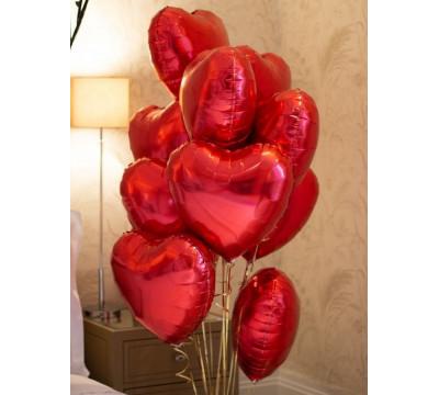 Букет из фольгированных сердец для любимой