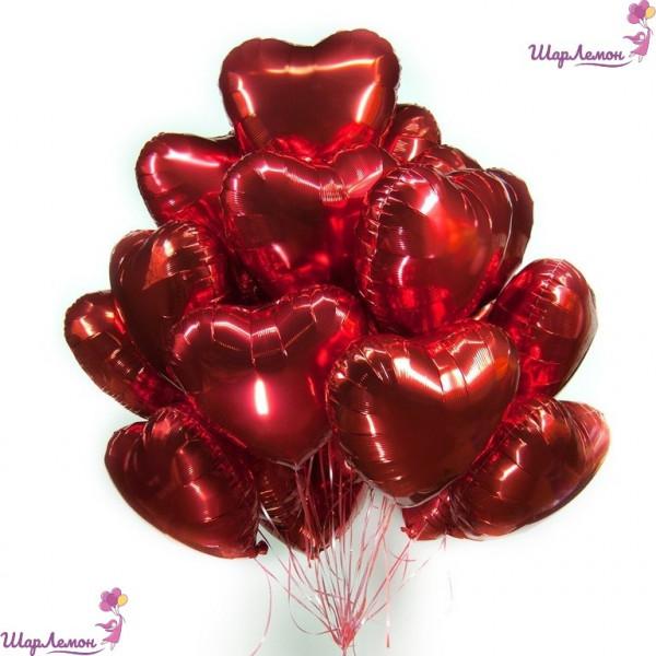 Букет из красных сердец