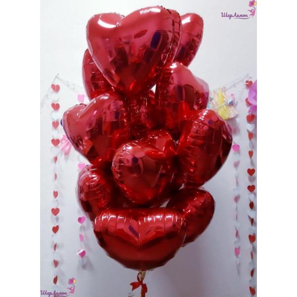 Букет из шаров на День Святого Валентина