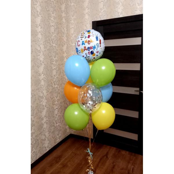 """Букет из шаров """"Яркий День рождения"""""""