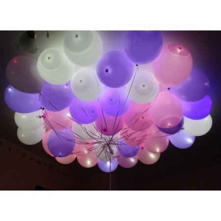Букет светящихся шаров в пастельных тонах