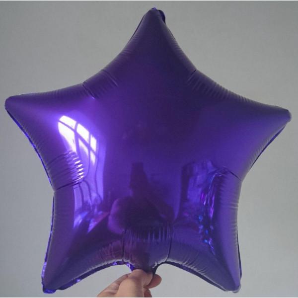 Фиолетовая фольгированная звезда, 45 см