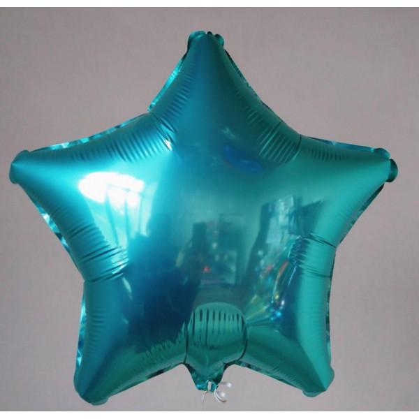 Фольгированная звезда цвета тиффани, 45 см