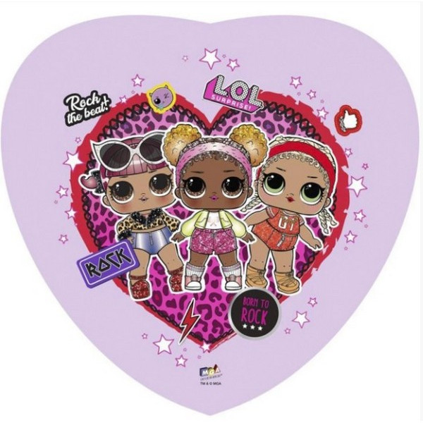 """Фольгированное сердце """"Куклы LOL Rock"""""""