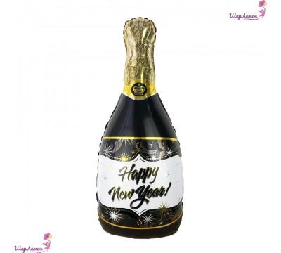 """Фольгированный шар бутылка шампанского """"Happy New Year!"""""""