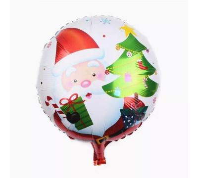 """Фольгированный шар """"Дед Мороз с елкой"""""""