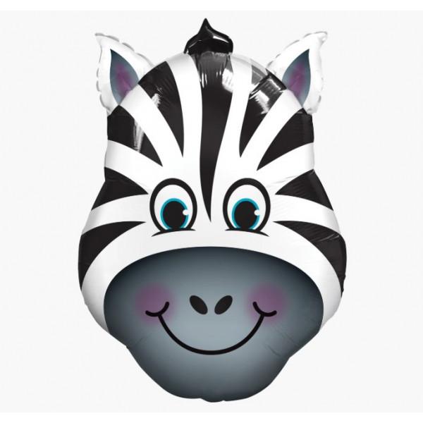 """Фольгированный шар """"Голова зебры"""""""
