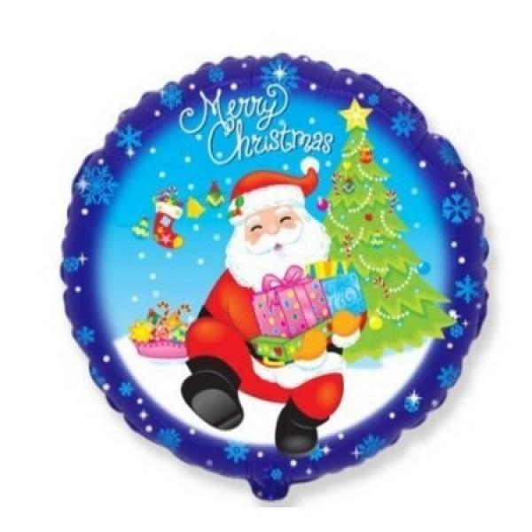 """Фольгированный шар """"Санта с подарками"""""""