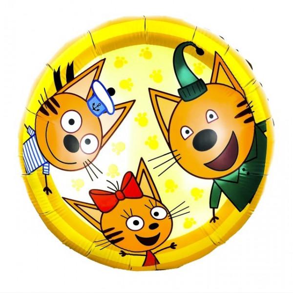 """Фольгированный шар """"Три кота"""""""