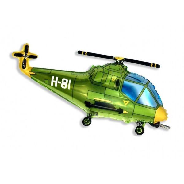 """Фольгированный шар """"Зеленый вертолет"""""""