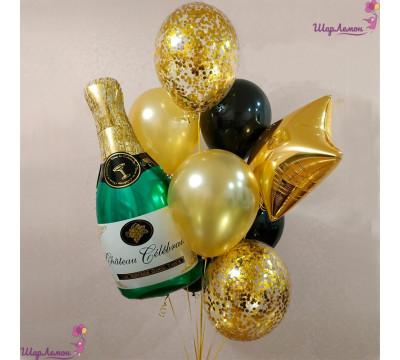 """Фонтан из шаров """"Брызги шампанского"""""""