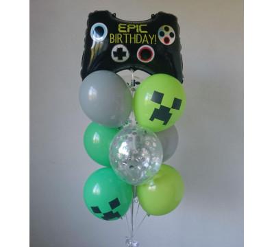 Фонтан из шаров для любителя игр