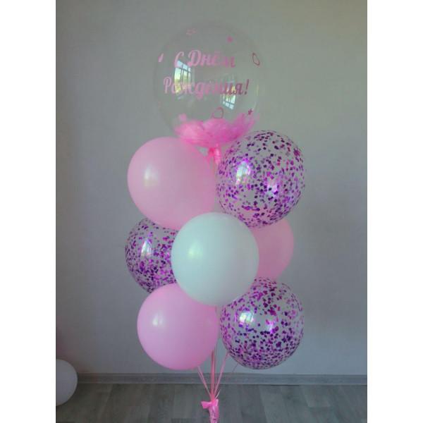 Фонтан с шаром баблс для девочки