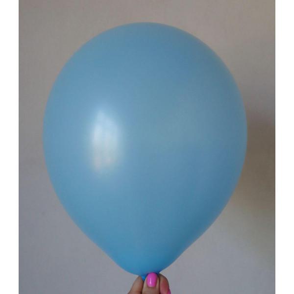 Голубой латексный шар, матовый