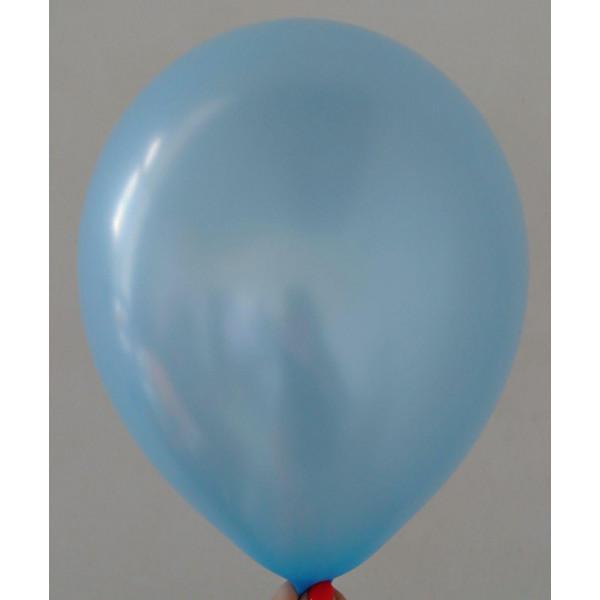 Голубой латексный шар, перламутровый