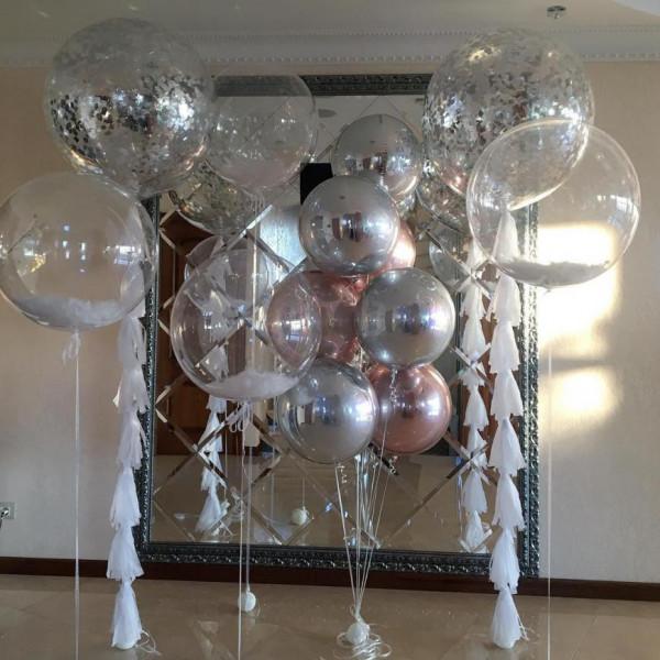 Шикарная композиция из шаров-гигантов и сфер