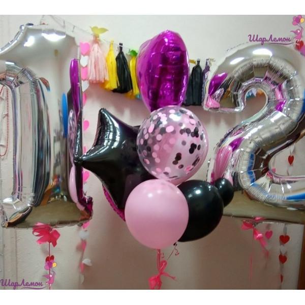 Композиция из шаров для девочки на 12 лет