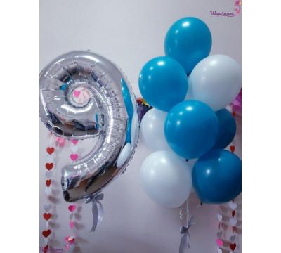 Композиция из шаров для мальчика на 9 лет