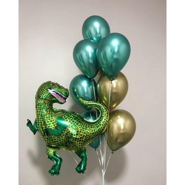 """Композиция из шаров """"Зеленый динозавр"""""""