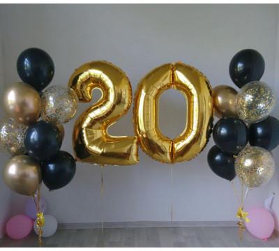 "Композиция на 20 лет ""Черное золото"""