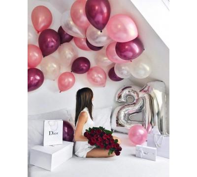 Композиция на 21-й День рождения девушки