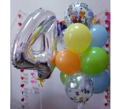 """Композиция на 4 года """"Яркий День рождения"""""""