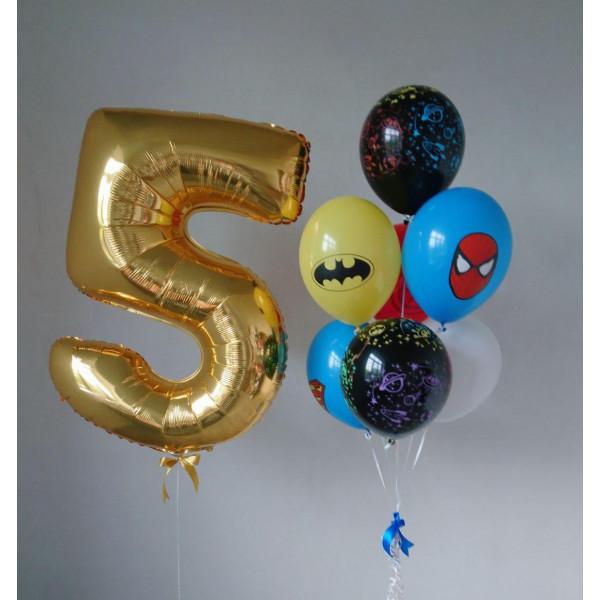 Композиция на 5 лет с супергероями