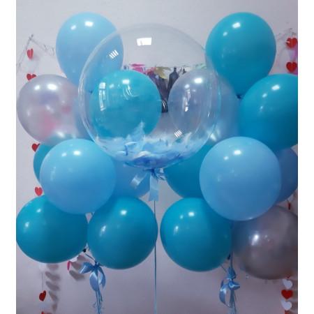 Композиция на выписку с шаром-сферой Bubbles