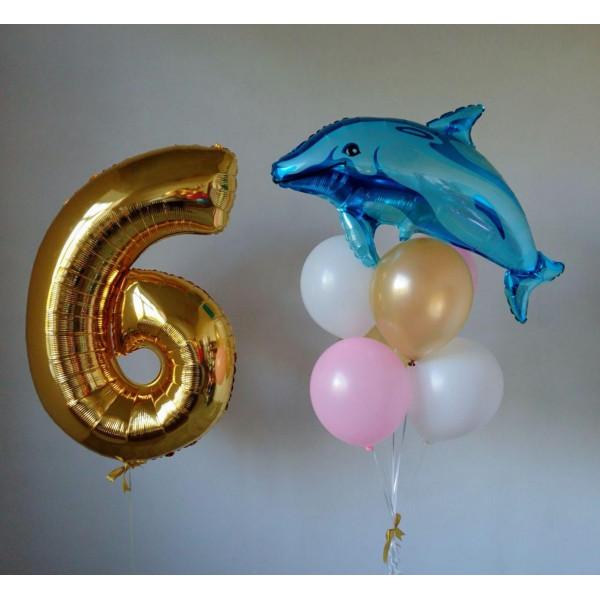 Композиция с дельфином ко Дню Рождения