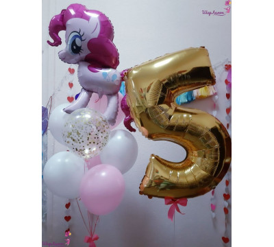 Композиция с Пинки Пай на 5 лет
