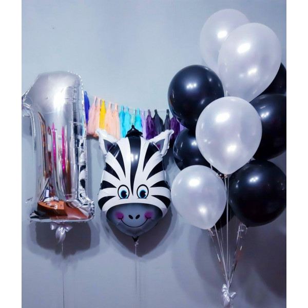 Композиция с зеброй на 1-й День Рождения