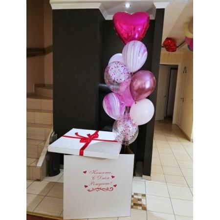 Коробка-сюрприз для яркой девушки