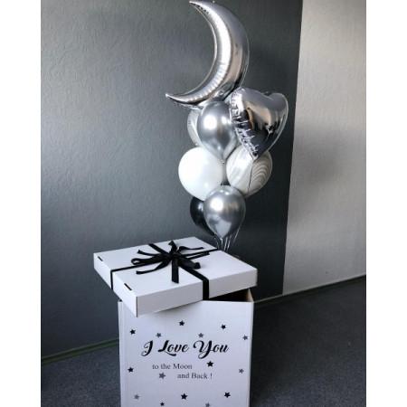 """Коробка-сюрприз """"Люблю тебя до луны и обратно"""""""