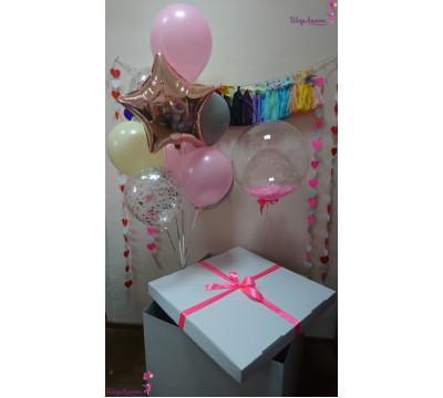 """Коробка-сюрприз """"Розовая нежность"""""""