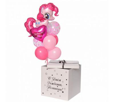 Коробка-сюрприз с Пинки Пай на День рождения девочки