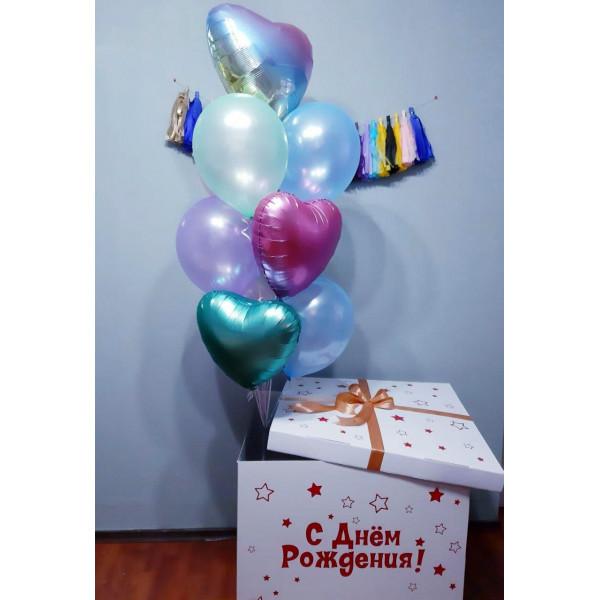 Коробка-сюрприз с сердцами на День Рождения