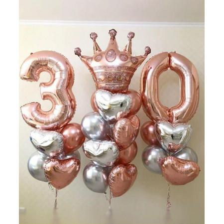 Королевский набор шаров на 30 лет