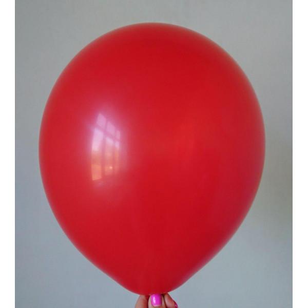 Красный латексный шар, матовый
