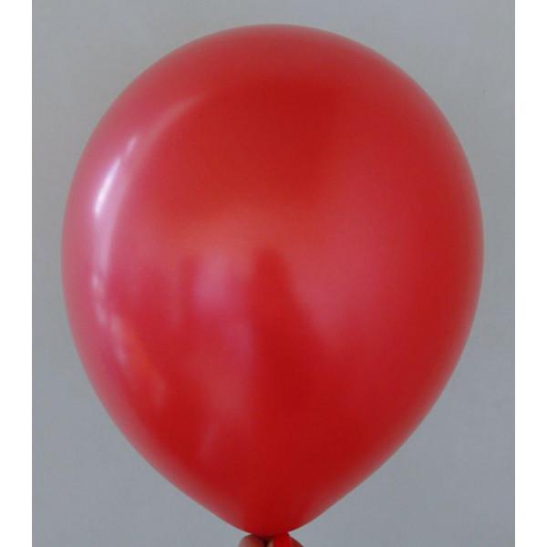 Красный латексный шар, перламутровый