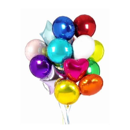 Красочный микс фольгированных шаров