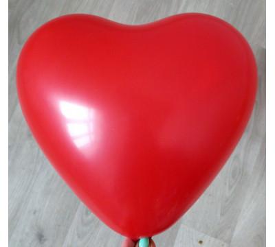 Латексное сердце (38 см), красное