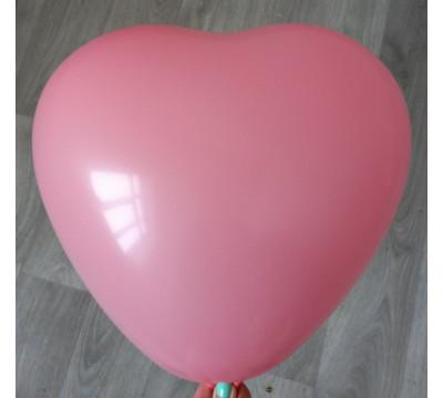 Латексное сердце (38 см), светло-розовое