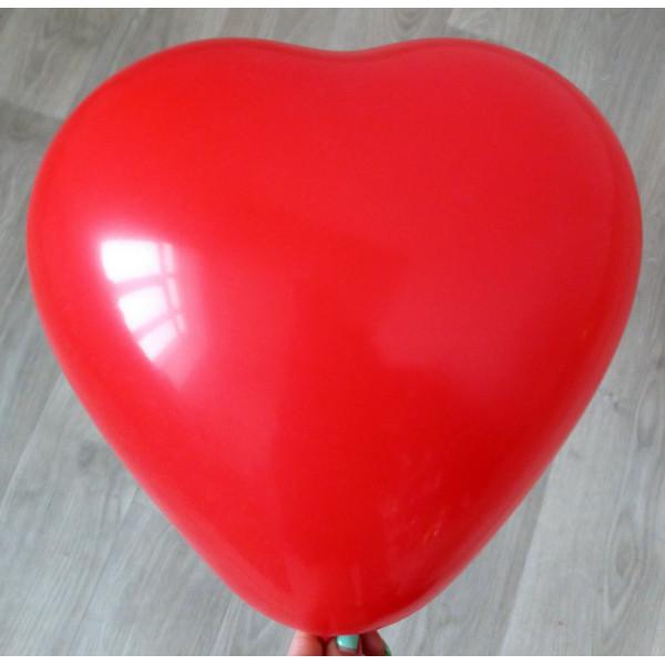 Латексное сердце (43 см), красное